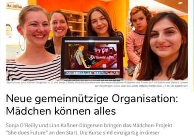 Neue gemeinnützige Organisation: Mädchen können alles - Neue Westfälische 19.05.2019