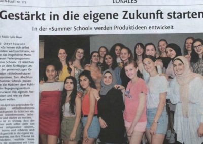 Summer School 2019 im Westfalen Blatt