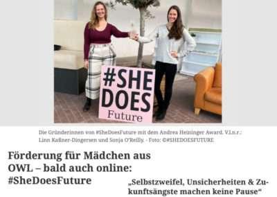 #SheDoesFuture gewinnt Andrea-Heininger-Award